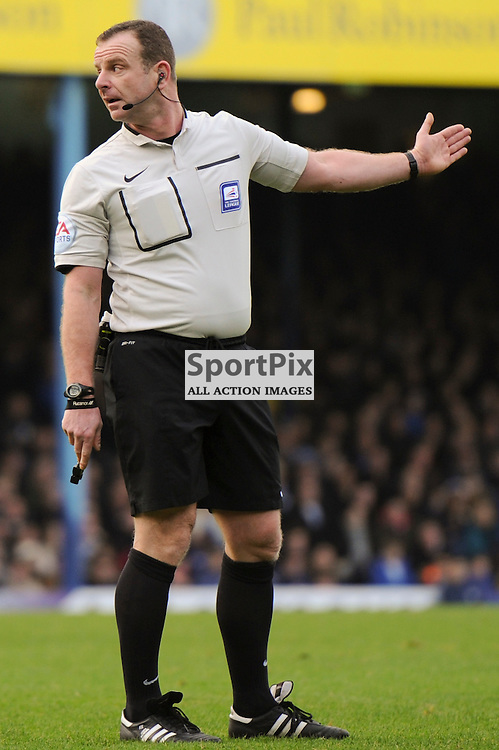 Referee Kevin Wright in action during the Southend v Millwall game in the Sky Bet League 1 on the 28th December 2015.