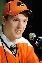 Sean Couturier of the Drummondville Voltigeurs was selected by the Philadelphia Flyers in the 2011 NHL Entry Draft in St. Paul, MN on Friday June 24. Photo by Aaron Bell/CHL Images