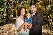 Tawny Twichell, Matthew Twichell and Harper Twichell, 6 months-old,  do family portraits at Thomas Creek Trail in Reno, Nev., on Sunday, Oct. 25, 2015.