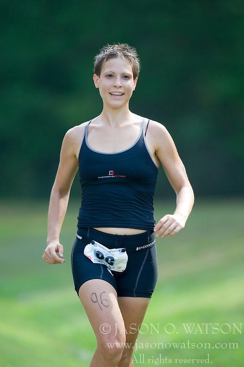 CHARLOTTESVILLE, VA - July 27, 2008 - STACY LANE in The 2008 Charlottesville International Triathlon was held at Walnut Creek Park in Albemarle County near Charlottesville, Virginia, USA.
