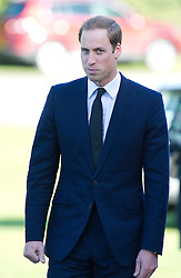 Prince William attends the funeral of his former nanny Olga Powell in Harlow, Essex, Wednesday, 10th October 2012.  Photo by: i-Images