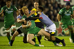 September 9, 2017 - Galway, Ireland - Darragh Leader of Connacht tackled by Kurt Coleman of S.Kings during the Guinness PRO14 rugby match between Connacht Rugby and Southern Kings at the Sportsground in Galway, Ireland on September 9, 2017  (Credit Image: © Andrew Surma/NurPhoto via ZUMA Press)
