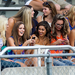 Boise State football held a scrimmage at Albertsons Stadium. Thursday August 14, 2014