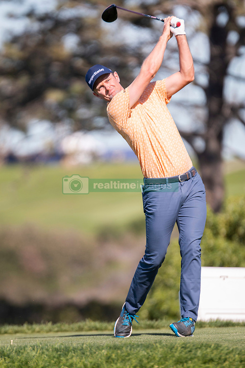 January 27, 2019 - San Diego, CA, U.S. - SAN DIEGO, CA - JANUARY 27: Justin Rose during the final round of the Farmers Insurance Open at Torrey Pines Golf Club on January 27, 2019 in San Diego, California. (Photo by Alan Smith/Icon Sportswire) (Credit Image: © Alan Smith/Icon SMI via ZUMA Press)