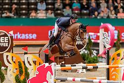 HASSMANN Felix (GER), Cayenne WZ<br /> Leipzig - Partner Pferd 2020<br /> FUNDIS Youngster Tour<br /> 2. Qualifikation für 7jährige Pferde <br /> Springprfg. nach Fehlern und Zeit, int.<br /> Höhe: 1.35 m<br /> 18. Januar 2020<br /> © www.sportfotos-lafrentz.de/Stefan Lafrentz