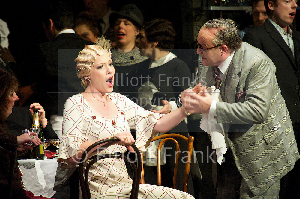 La Boheme<br /> by Giacomo Puccini <br /> translation by Amanda Holden <br /> conductor Gianluca Marciano<br /> directed by Jonathan Miller<br /> revival director Natascha Metherell<br /> <br /> at the London Coliseum, London, Great Britain <br /> rehearsal <br /> 27th October 2014 <br /> <br /> <br /> Jennifer Holloway as Musetta<br /> <br /> <br /> <br /> <br /> Photograph by Elliott Franks