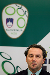 Head coach Slavisa Stojanovic during press conference of the Football Association of Slovenia (NZS – Nogometna zveza Slovenije), on November 7, 2011, in NZS, Crnuce, Ljubljana, Slovenia.  (Photo by Vid Ponikvar / Sportida)
