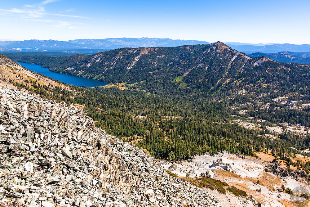 """Independence Lake, CA 3"" - Photograph of Independence Lake, taken from above the lake."