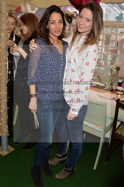 Left to right, MALIKA DALAMAL and KELLY EASTWOOD at a ladies Valentine's Breakfast to launch the new healthy food menu at royal favourite restaurant Bumpkin, 119 Sydney Street, London on 14th February 2014.