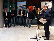 Warsaw, Poland - 2018 March 28: Photoexhibition Winter Olympic Games in PyeongChang 2018 at Polish Olympic Committee Centre on March 28, 2018 in Warsaw, Poland.<br /> <br /> Jan Rozmarynowski declares that he has no rights to the image of people at the photographs of his authorship.<br /> <br /> Any editorial, commercial or promotional use requires written permission from the author of image.<br /> <br /> Mandatory credit:<br /> Photo by &copy; Jan Rozmarynowski