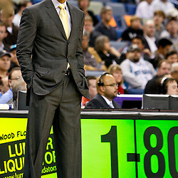 December 15, 2010; New Orleans Hornets head coach Monty Williams during the first half against the Sacramento Kings at the New Orleans Arena.  Mandatory Credit: Derick E. Hingle