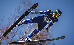 30.09.2018, Energie AG Skisprung Arena, Hinzenbach, AUT, FIS Ski Sprung, Sommer Grand Prix, Hinzenbach, im Bild Timi Zajc (SLO) // Timi Zajc of Slovenia during FIS Ski Jumping Summer Grand Prix at the Energie AG Skisprung Arena, Hinzenbach, Austria on 2018/09/30. EXPA Pictures © 2018, PhotoCredit: EXPA/ Stefanie Oberhauser