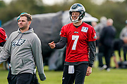 Philadelphia Eagles Nate Sudfeld QB (7) during the press, training and media day for Philadephia Eagles at London Irish Training Ground, Hazelwood Centre, United Kingdom on 26 October 2018. Picture by Jason Brown.
