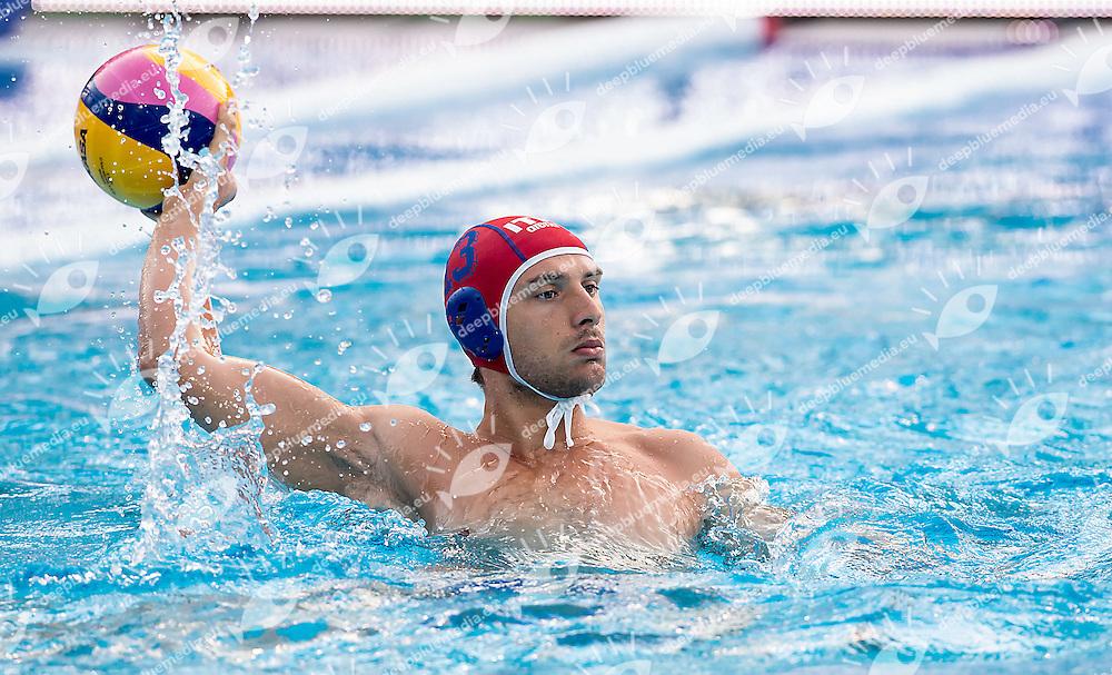 13 DEL LUNGO Marco ITA<br /> United States USA (white) - Italy ITA (blue)<br /> day 03 - 25/06/2015<br /> FINA Water Polo World League Superfinal Men<br /> Bergamo (ITA) 23-28 June 2015<br /> Photo G.Scala/Deepbluemedia