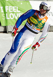 Davide Simoncelli of Italy during 2nd Rund of Men's Giant Slalom of FIS Ski World Cup Alpine Kranjska Gora, on March 5, 2011 in Vitranc/Podkoren, Kranjska Gora, Slovenia.  (Photo By Vid Ponikvar / Sportida.com)