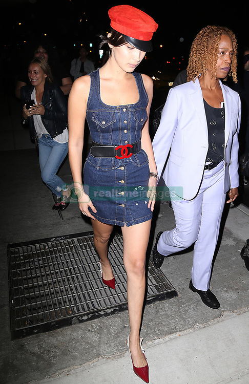 Celebrities arriving at Mert and Marcus party, Bella Hadid, Cindy Crawford and Adriana Lima. 07 Sep 2017 Pictured: Bella Hadid. Photo credit: MEGA TheMegaAgency.com +1 888 505 6342