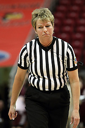 03 March 2013:  Referee Becky Blank during an NCAA Missouri Valley Conference (MVC) women's basketball game between the Missouri State Bears and the Illinois Sate Redbirds at Redbird Arena in Normal IL