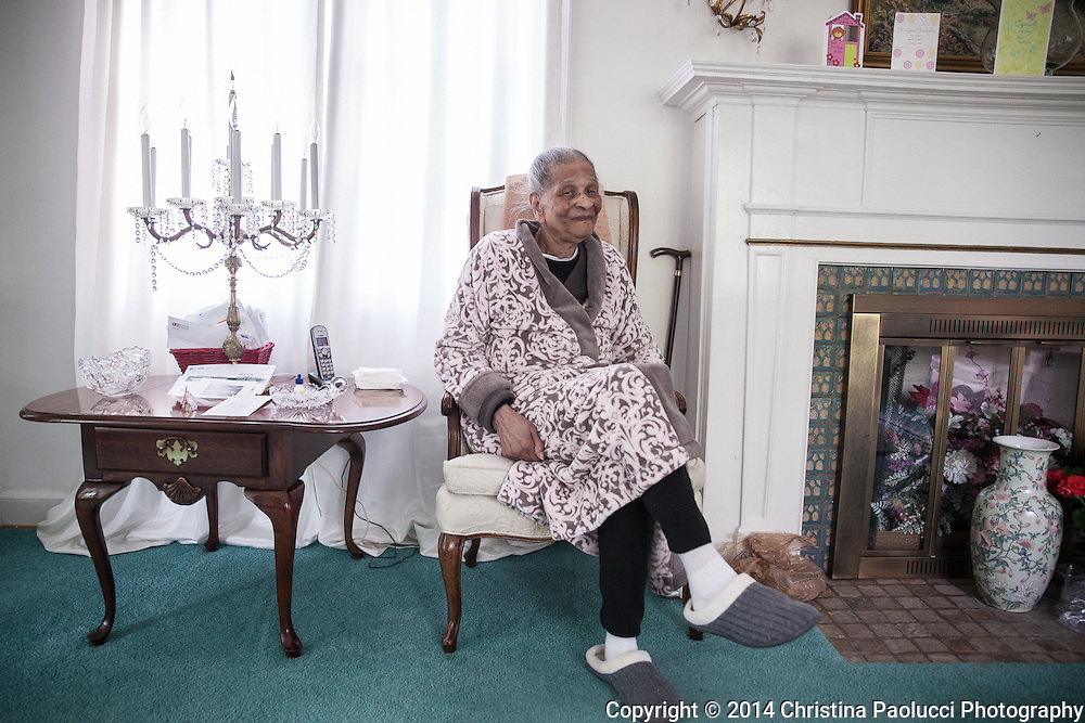 Vanita Wood, 94, at her home in Woodland Park May 17th, 2014. (Christina Paolucci, photographer).