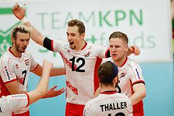 20170525 NED: 2018 FIVB Volleyball World Championship qualification, Koog aan de Zaan<br />Alexander Berger (12) of Austria, Nicolai Grabmuller (15) of Austria<br />©2017-FotoHoogendoorn.nl / Pim Waslander