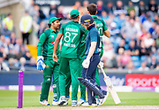 Picture by Allan McKenzie/SWpix.com - 19/05/2019 - Sport - Cricket - 5th Royal London One Day International - England v Pakistan - Emerald Headingley Cricket Ground, Leeds, England - England captain Eoin Morgan dejected after being dismissed by Pakistan's Shaheen Afridi.