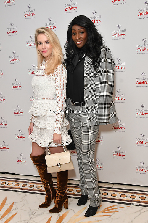Nina Sall (R) and Agata Mazur (L) of Naaboo London attends the Children's charity hosts fashion and beauty lunch event, with live entertainment at The Dorchester, London, UK. 12 October 2018.