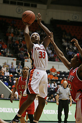 Tiffany Sardin (33) takes an open shot against NC State.  Sardin had 16 points as the Hoos were beaten by the Wolfpack 73-63.