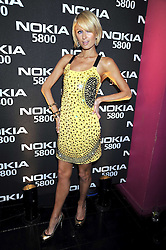 PARIS HILTON at the launch party of the Nokia 5800 phone held at PUNK 14 Soho Street, London W1 on 27th January 2009.