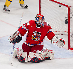 05.05.2012, Ericsson Globe, Stockholm, SWE, IIHF, Eishockey WM, Schweden (SWE) vs Tschechische Republik (CZE), im Bild, Czech Republic 33 Goalkeeper Jakub Stepanek (SKA St Petersburg) // during the IIHF Icehockey World Championship Game between Sweden (SWE) and Czech Republic (CZE) at the Ericsson Globe, Stockholm, Sweden on 2012/05/05. EXPA Pictures © 2012, PhotoCredit: EXPA/ PicAgency Skycam/ Sami Grahn..***** ATTENTION - OUT OF SWE *****
