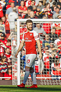 Arsenal defender Shkodran Mustafi (20) during the Premier League match between Arsenal and Southampton at the Emirates Stadium, London, England on 24 February 2019.
