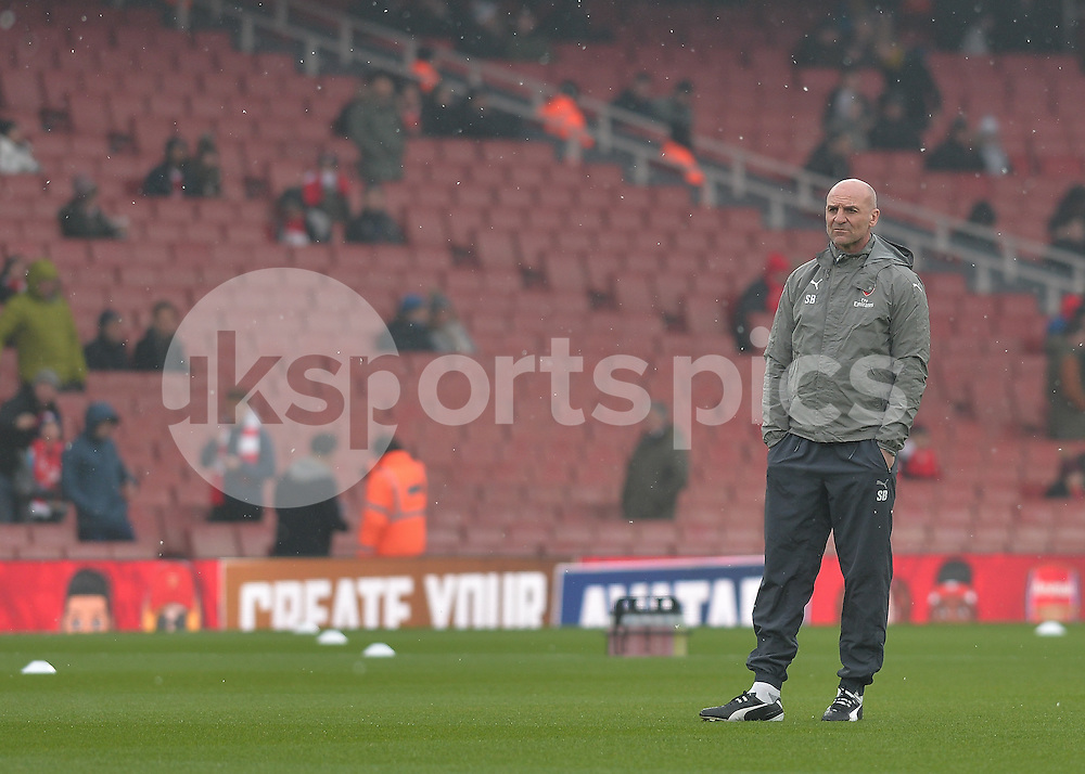 Steve Bould assistant manager of Arsenal during the Premier League match between Arsenal and Hull City at the Emirates Stadium, London, England on 11 February 2017. Photo by Vince  Mignott.