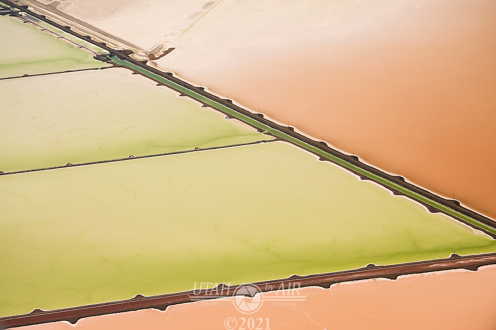 Salt Evaporation Ponds, Northeastern Corner of Great Salt Lake