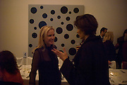 CAROLYN DAILEY AND ABASEH MIRVALI, Dinner hosted by the Victoria Miro Gallery Serpentine after the opening of the Derek Jarman exhibition curated by isaac Julien. February 2008.  *** Local Caption *** -DO NOT ARCHIVE-© Copyright Photograph by Dafydd Jones. 248 Clapham Rd. London SW9 0PZ. Tel 0207 820 0771. www.dafjones.com.