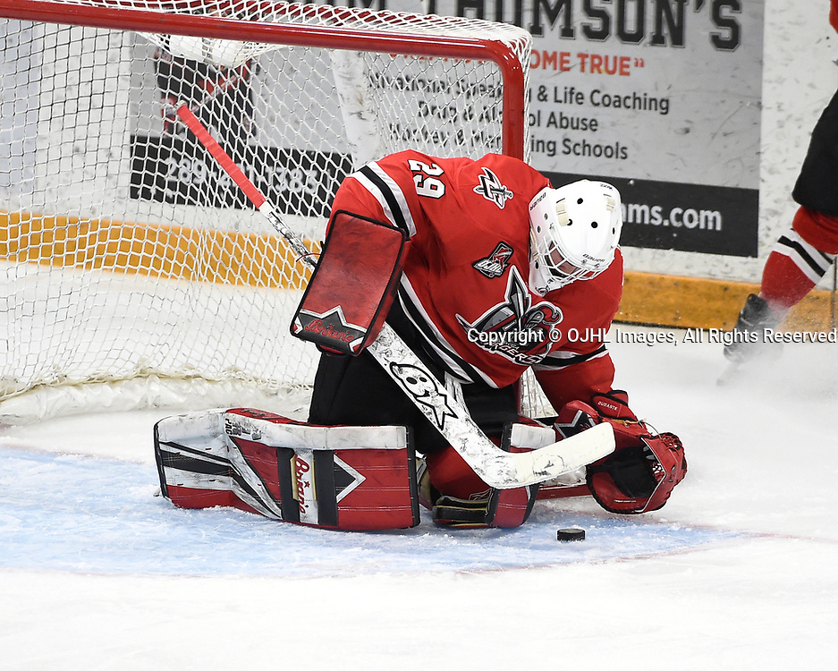 Ontario Junior Hockey League Game Between The Aurora Tigers And The