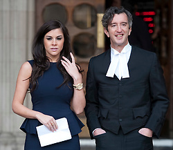 Imogen Thomas reads out her statement at the High Court, London, She gave a statement regarding her blackmail case with her barrister David Price QC, Thursday December 15, 2011. Pic by Gavin Rodgers/ i-Images