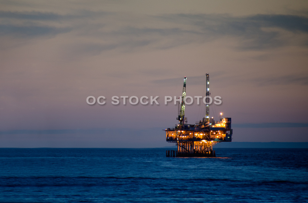 Off Shore Oil Platform Seal Beach