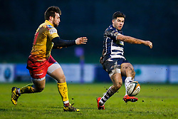 Bristol Rugby Inside Centre Ben Mosses chips on - Mandatory byline: Rogan Thomson/JMP - 17/01/2016 - RUGBY UNION - Clifton Rugby Club - Bristol, England - Scarlets Premiership Select XV v Bristol Rugby - B&I Cup.