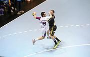 DESCRIZIONE : HandbaLL Cup Finale EHF Homme<br /> GIOCATORE : Mathieu DE LA BRETECHE<br /> SQUADRA : Nantes <br /> EVENTO : Coupe EHF Finale<br /> GARA : NANTES Rhein Neckar<br /> DATA : 19 05 2013<br /> CATEGORIA : Handball Homme<br /> SPORT : Handball<br /> AUTORE : JF Molliere <br /> Galleria : France Hand 2012-2013 Action<br /> Fotonotizia : HandbaLL Cup Finale EHF Homme<br /> Predefinita :