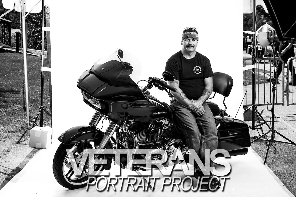 Reggie Poirier<br /> Navy &amp; Marine Corps<br /> E-5<br /> Corpsman<br /> Sept. 2001 - Nov. 2009<br /> OIF<br /> <br /> Veterans Portrait Project<br /> Laconia, NH<br /> Laconia Bike Week
