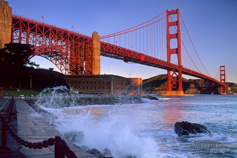 Golden Gate Bridge seen from Fort Point, The Presidio, San Francisco, California