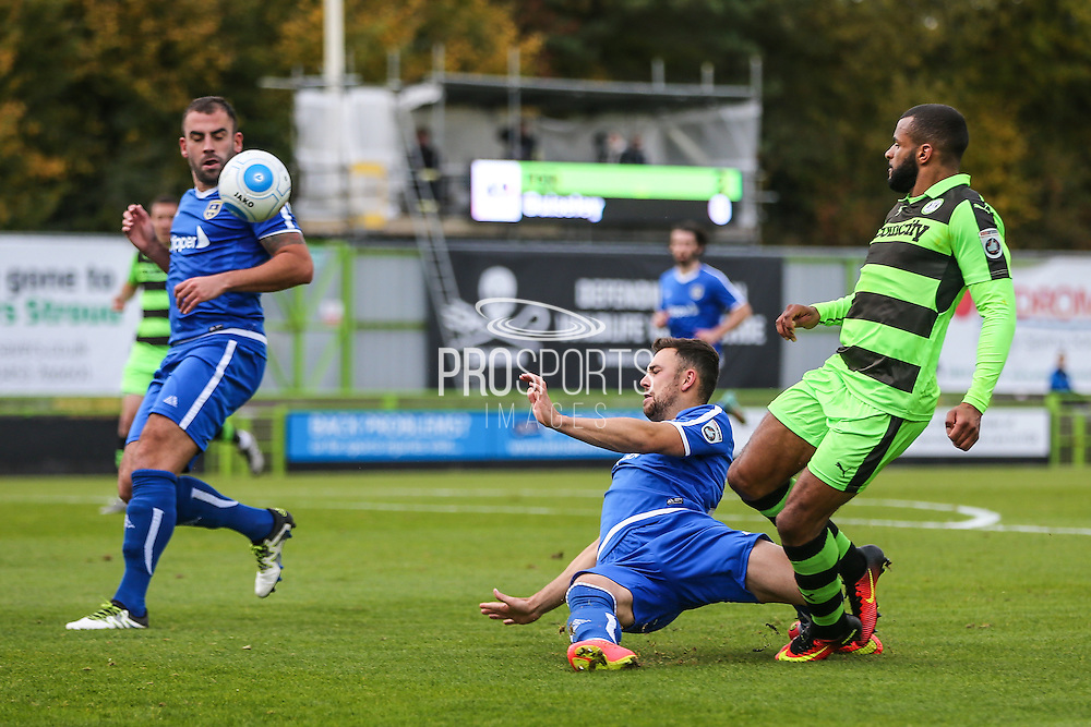 Forest Green Rovers Dan Wishart(17) crosses the ball during the Vanarama National League match between Forest Green Rovers and Guiseley  at the New Lawn, Forest Green, United Kingdom on 22 October 2016. Photo by Shane Healey.