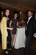 JAMILA ASKAROVA, MILA ASKAROVA and IGNAZIO CORACI at the Whitechapel Gallery Art Icon 2015 Gala dinner supported by the Swarovski Foundation. The Banking Hall, Cornhill, London. 19 March 2015