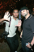 "DJ Soul and Photographer Johnny Nunez at the Alica Keys "" As I am"" celebration wrap party at Park on June 18, 2008"