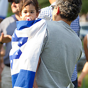 A pro-Israel rally is held on the Boston Common on July 18, 2014 in Boston, Massachusetts. (Photo by Elan Kawesch/The Times of Israel)