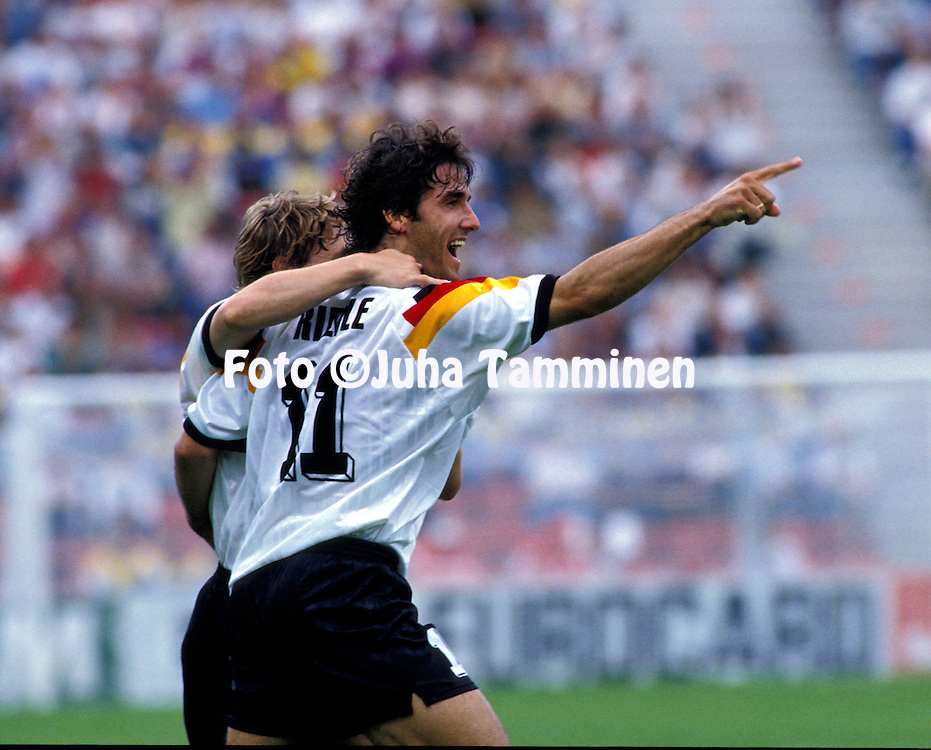 UEFA European Champioship - Sweden 1992.Karlheinz Riedle - Germany.©JUHA TAMMINEN