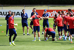 England manager Gareth Southgate during the training session at Stade Omnisport.