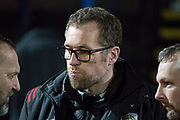 Crewe Alexandra manager David Artell                               during the EFL Sky Bet League 2 match between Macclesfield Town and Crewe Alexandra at Moss Rose, Macclesfield, United Kingdom on 21 January 2020.