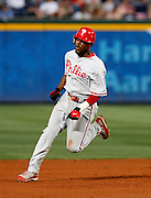 Phillies shortstop Jimmy Rollins during the game between the Atlanta Braves and the Philadelphia Phillies at Turner Field in Atlanta, GA on April 30, 2007..