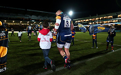 Nick Schonert of Worcester Warriors runs out to face London Irish - Mandatory by-line: Robbie Stephenson/JMP - 22/12/2017 - RUGBY - Sixways Stadium - Worcester, England - Worcester Warriors v London Irish - Aviva Premiership