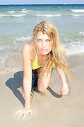 ACTRESS MEREDITH OSTRAM 'FACTORY GIRLS' RELAXES ON PLAYA DEN BOSSA BEACH IBIZA DURING THE IBIZA AND FORMENTERA INTERNATIONAL FILM FESTIVAL IN IBIZA.6.6.07.PIX STEVE BUTLER