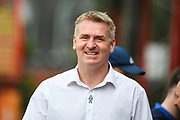 Brentford Manager / Head Coach Dean Smith ahead of the EFL Sky Bet Championship match between Brentford and Queens Park Rangers at Griffin Park, London, England on 21 April 2018. Picture by Stephen Wright.
